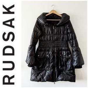 Rudsak winter down filled black jacket